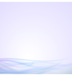Abstract blue wave background light design vector
