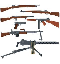 american weapons of world war ii vector image vector image