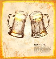 Beer toby jugs vector