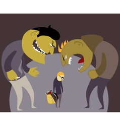 Bullies and a kid vector