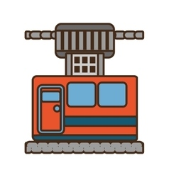 Cable way cabine gondola vacation travel vector