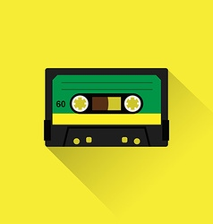 Cassette tape icon vector