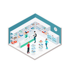 chemists shop interior composition vector image