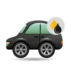 coupe car gasoline oil icon vector image vector image