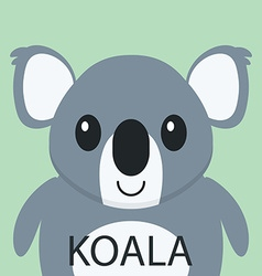 Cute Coala bear cartoon flat icon avatar vector image
