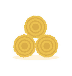 dried haystack icon vector image vector image