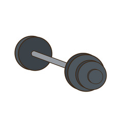 dumbbell weight gym metal equipment vector image