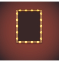 Frame with electric bulbs vector