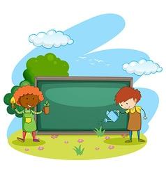 Gardener vector image