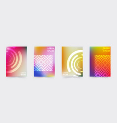 Geometric covers template set vector