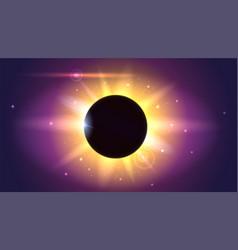 Glow light effect star burst with sparkles solar vector