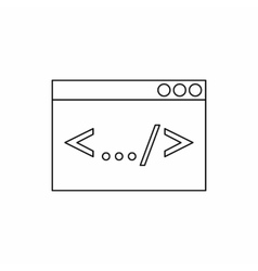 Greater than less than icon outline style vector