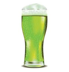 Green beer glass2 vector image