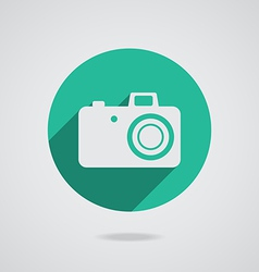 Hipster white photo camera icon element vector