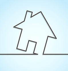 House icon lines background template vector image vector image
