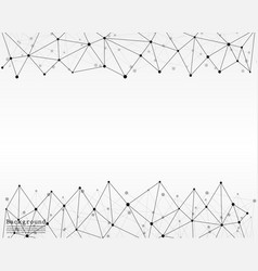 Line and dots geometric abstract background vector
