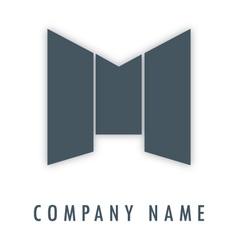M grey logo vector image vector image