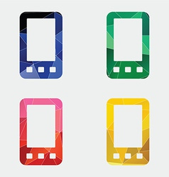 mobile phone icon Abstract Triangle vector image