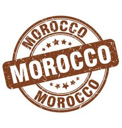Morocco brown grunge round vintage rubber stamp vector