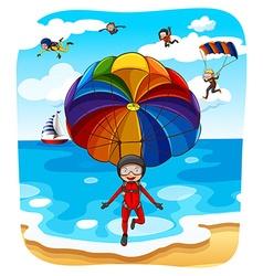 Parachuting vector image