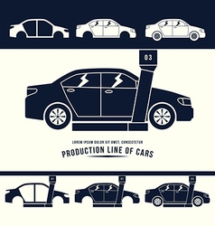 Production line of cars vector