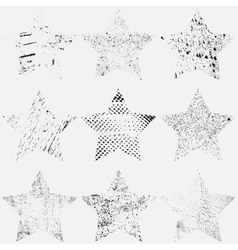 Set Star vector image vector image