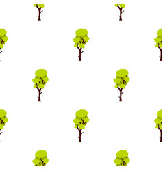 Tall green tree pattern flat vector
