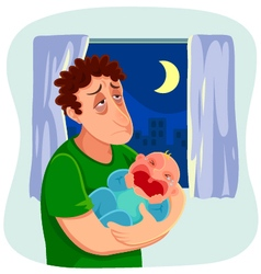 tired father vector image