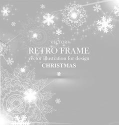 White christmas background vector