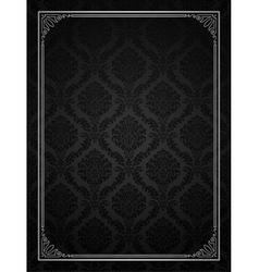Ornamental frame with seamless pattern vector image