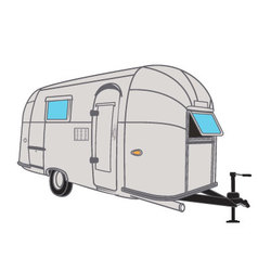 Vintage airstream style camper vector