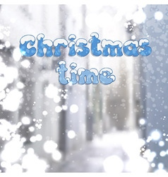 Christmas time background vector