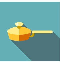 Kitchen frying pan icon flat style vector