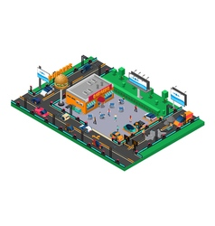 Futuristic isometric composition vector