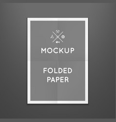 Template of folded poster placed in vector