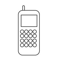 cellphone call communication gadget outline vector image
