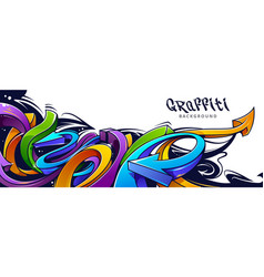 Graffiti arrows background vector