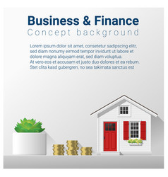Finance concept background with real estate invest vector