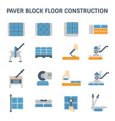 Paver block floor vector