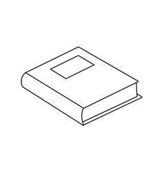 School book literature study supply vector