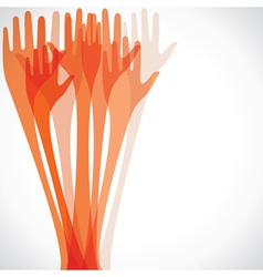 orange hand vector image