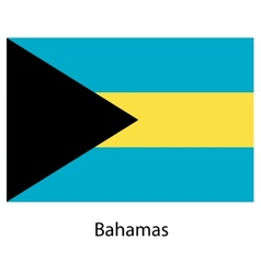 Flag of the country bahamas vector