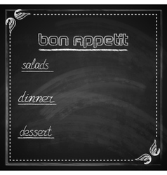 Vintage with chalkboard menu design vector