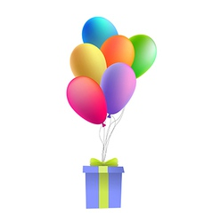 Balloons with a gift vector