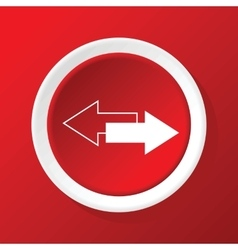 Opposite arrows icon on red vector
