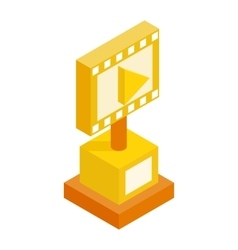 Movie award isometric 3d icon vector