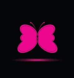 Butterfly in pink color vector