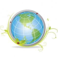 Ecological globe vector