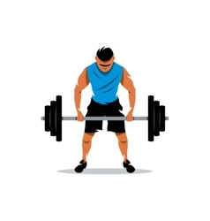 Weightlifting cartoon vector