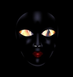 Darkness and black mask vector